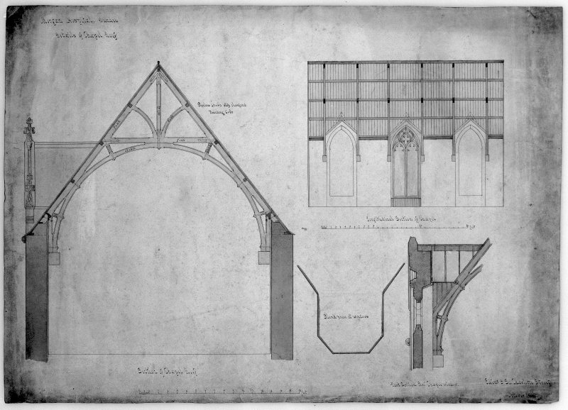 Sections and details of chapel. Scanned image of D 39798.