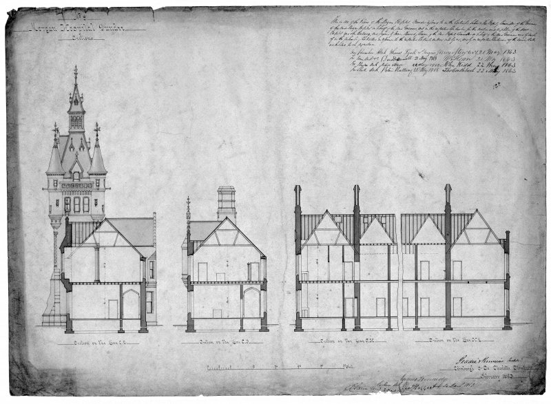 Plans, sections and elevations. Scanned image of D 39794.