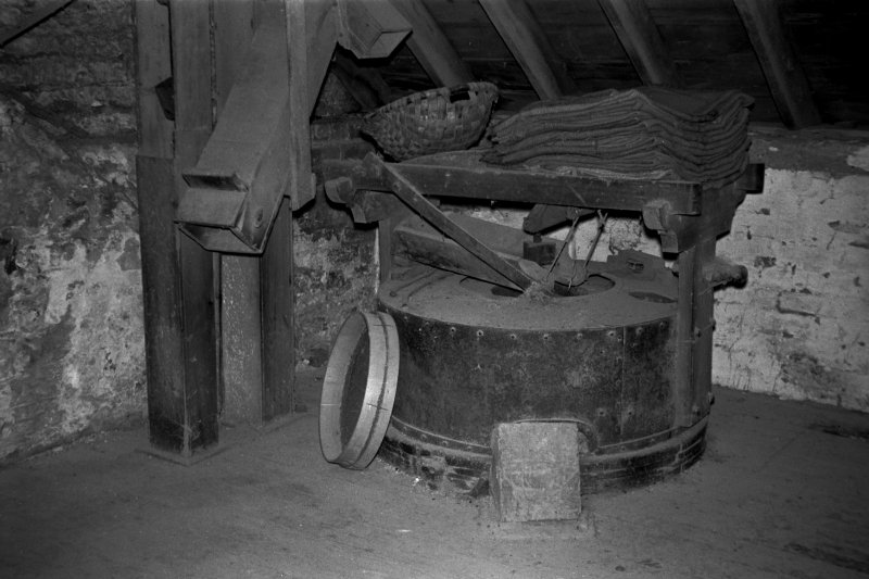 Interior View showing millstones