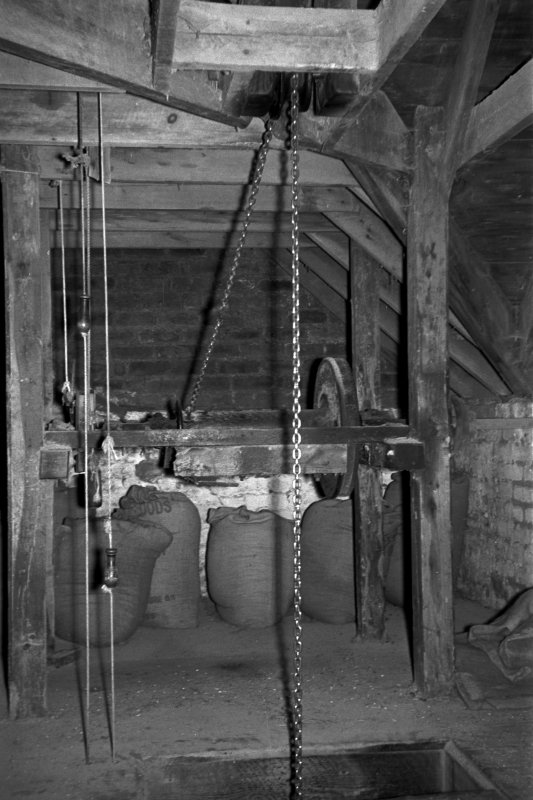 Interior  View showing sack hoist