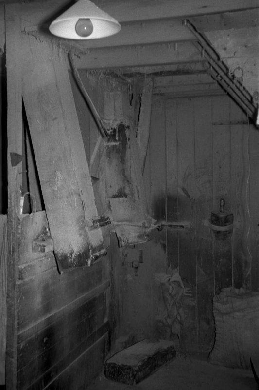 Interior View showing chute for millstones