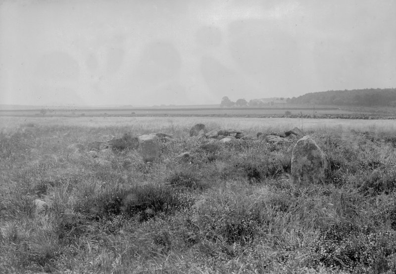 General view from the north. Original negative captioned: 'Cairnwell Circle near Portlethen Station General View from North July 1902'.