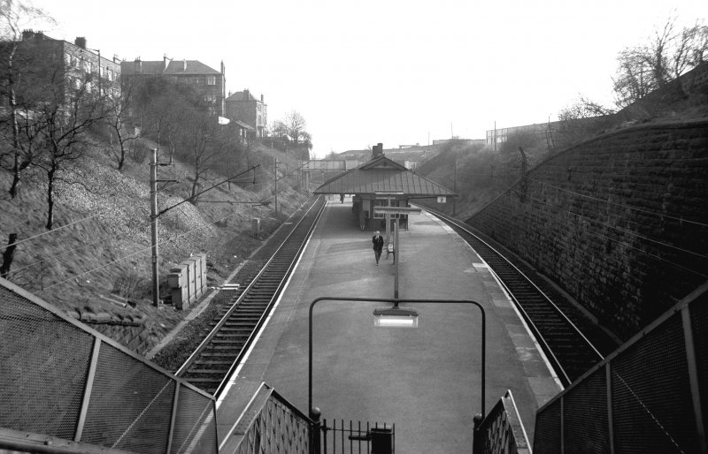 View looking SSW showing NNE front of platform building