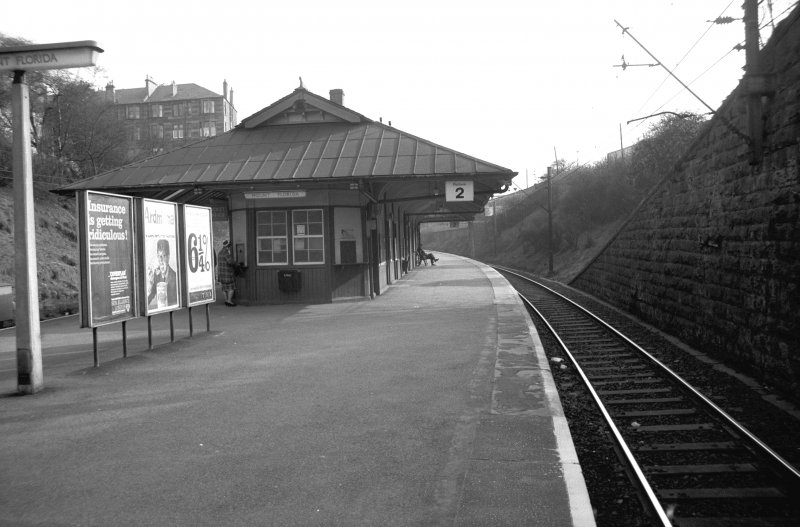 View from N showing NNE front of platform building