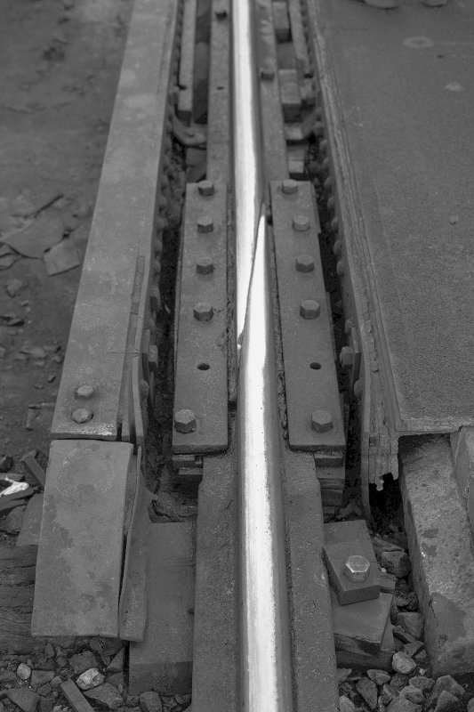 Detail of the expansion joint in the Forth Bridge rails. Digital image of B 3153