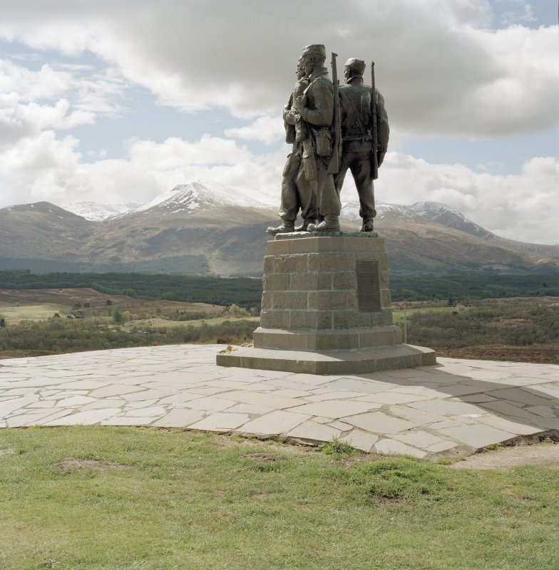 View of war memorial at Spean Bridge from north east.