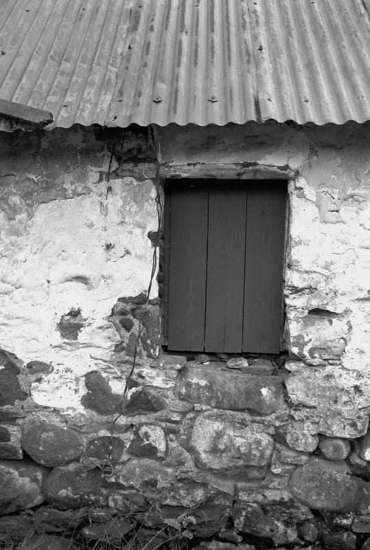 Auchindrain, Building D. View of West window in North wall.