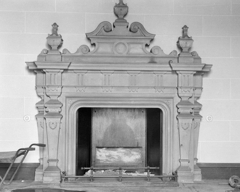 Digital image of detail of fireplace, architect William Burn 1853.