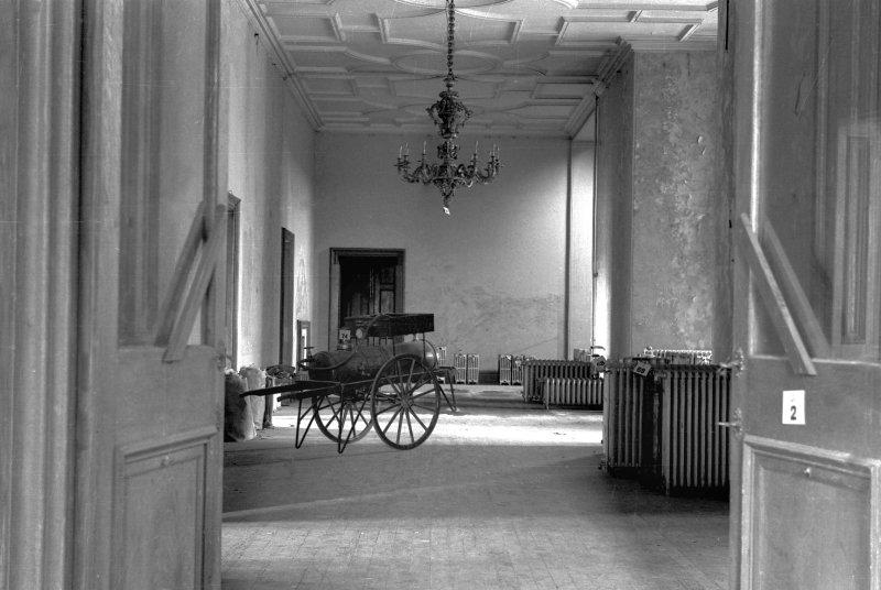 Buchanan Castle, view of main corridor, ground floor.