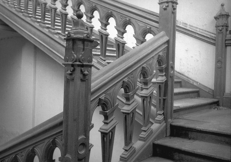 Buchanan Castle, detail of main staircase.