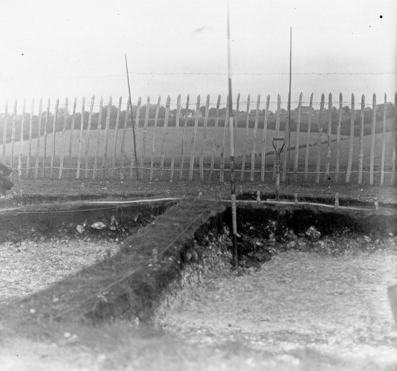 Digital copy of excavation photograph: view of trenches.