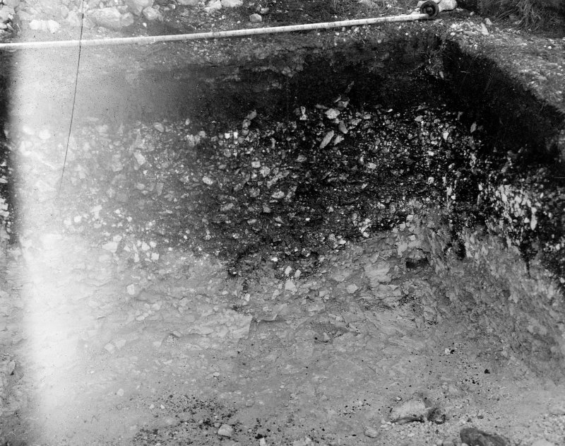 Digital copy of excavation photograph: view of trench.