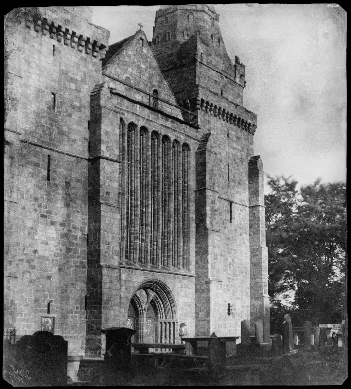 View of West front and seven-light Gothic window, St Machar's Cathedral, Aberdeen