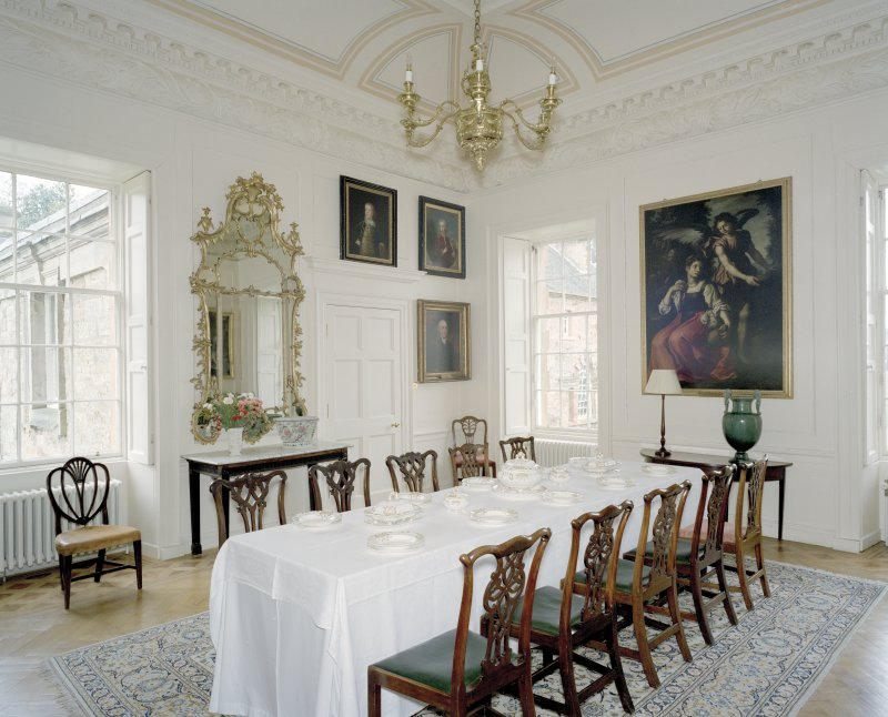 Interior.  Ground floor, dining-room, view from SE