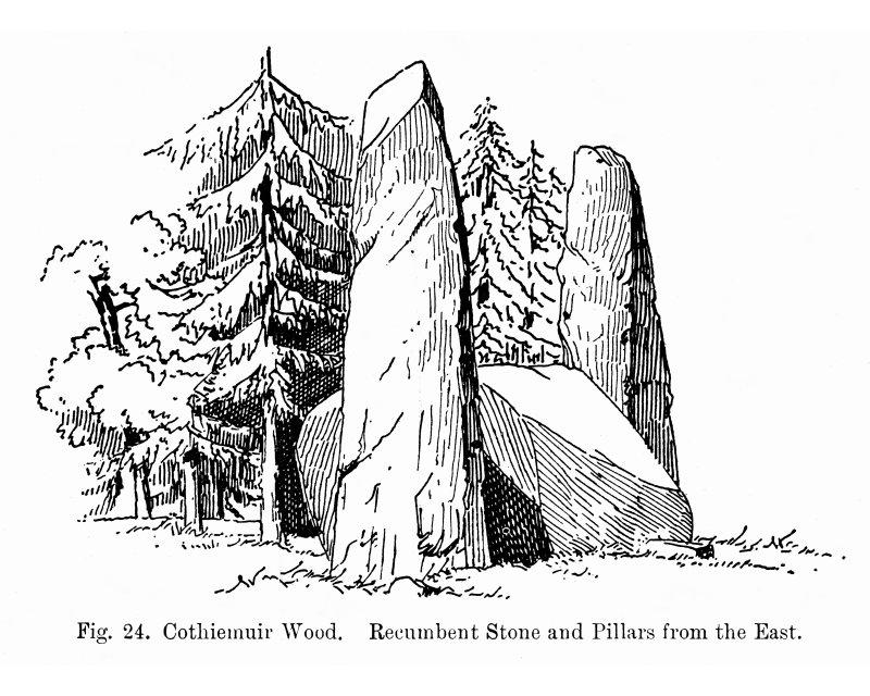 Sketch of recumbent stone circle.