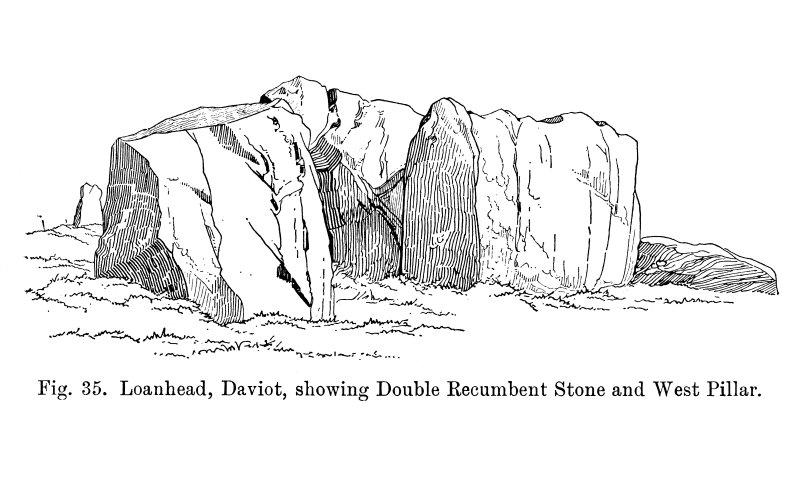 Sketch view of recumbent stone circle