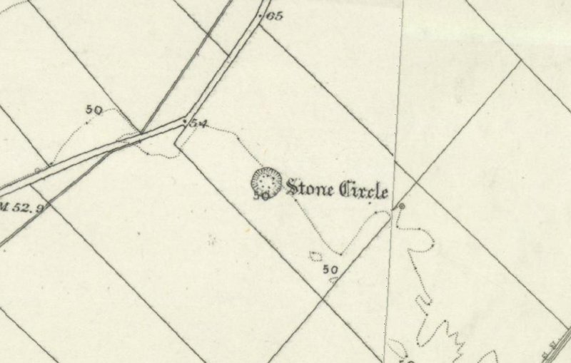 Extract from OS 6-inch map 1869.