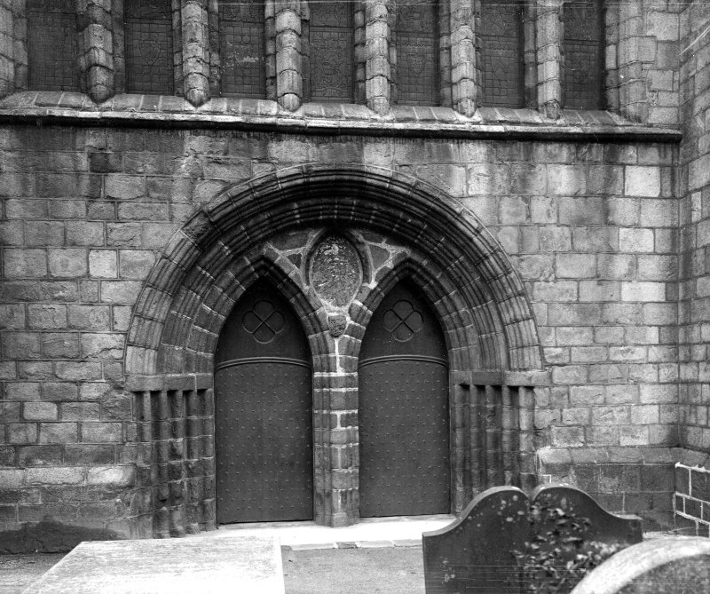 Aberdeen, Chanonry, St Machar's Cathedral. General view of West doorway.