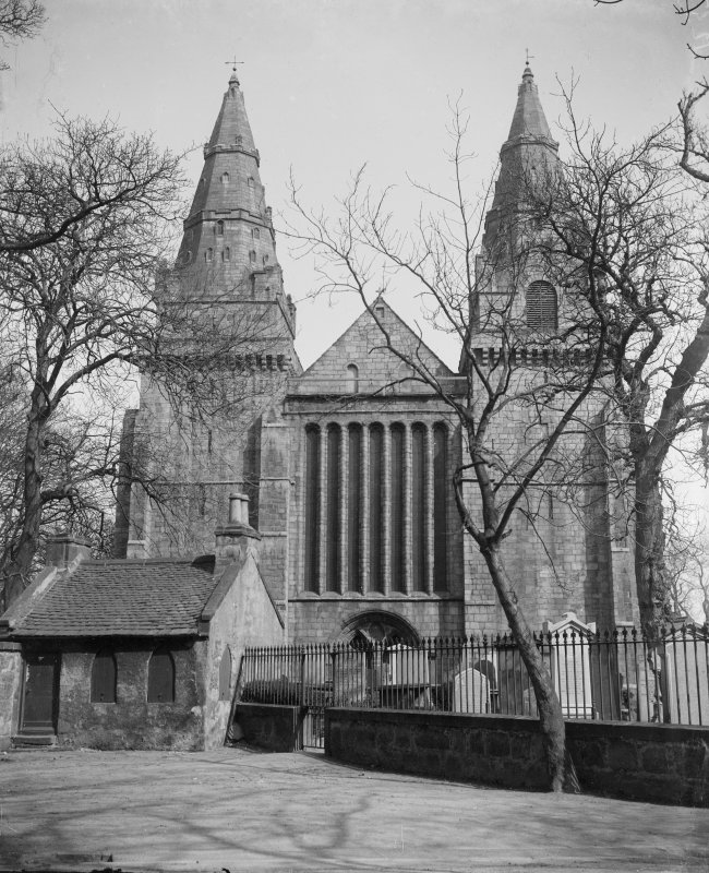 Aberdeen, Chanonry, St Machar's Cathedral. General view of West front.
