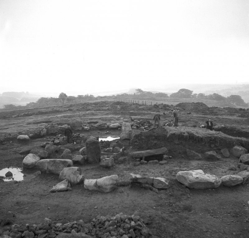 View of the excavation at Cairnpapple henge and cairn in 1948, by Professor S Piggott.