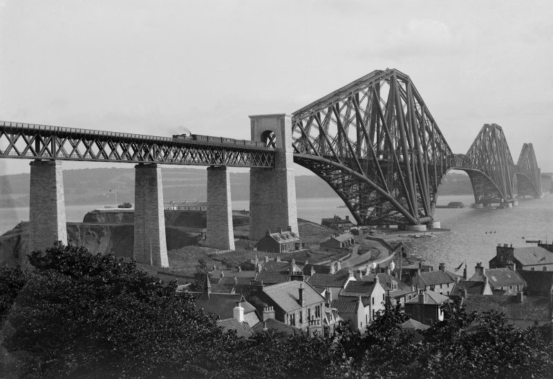 View of the bridge in use seen from North Queensferry.