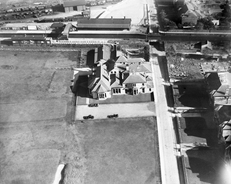 Prestwick Golf Course Club House.  Oblique aerial photograph taken facing east.