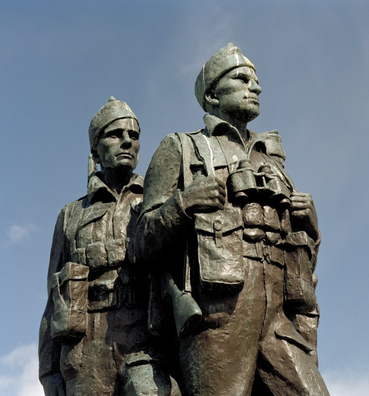 Detail of commando figures from south west