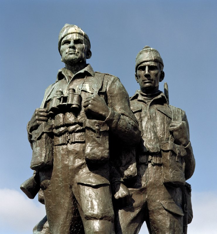 Detail of commando figures from south east