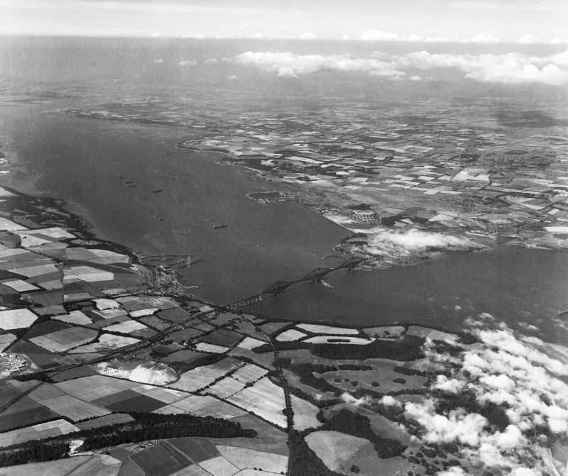 Firth of Forth, general view, showing Queensferry and Forth Rail Bridge.  Oblique aerial photograph taken facing north-west.