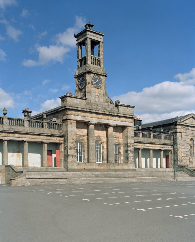 View of central block and clock tower from north west