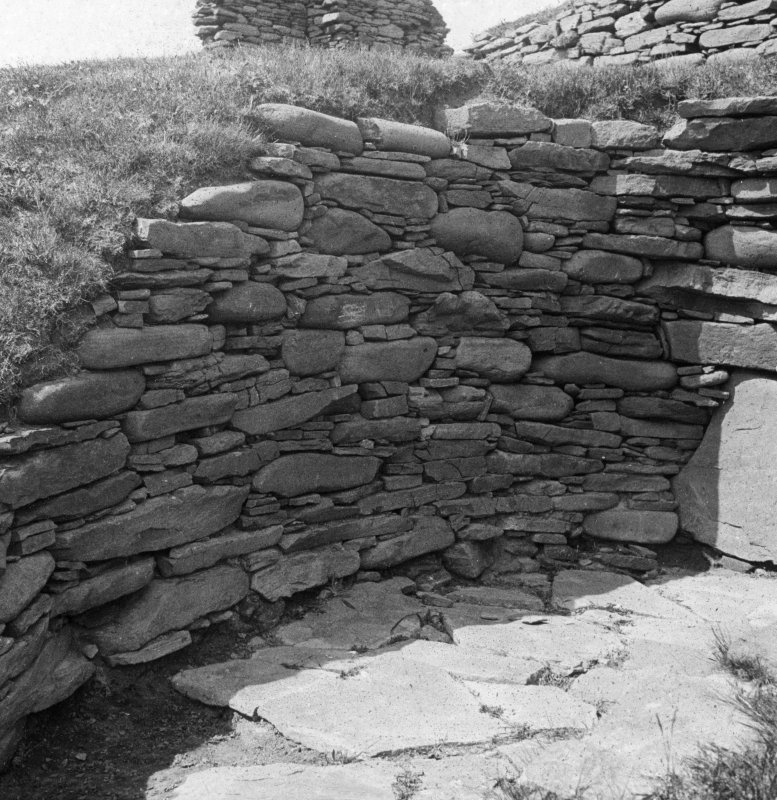 View of chamber of broch, showing construction.