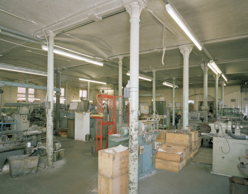 Interior. View of machine shop from NW