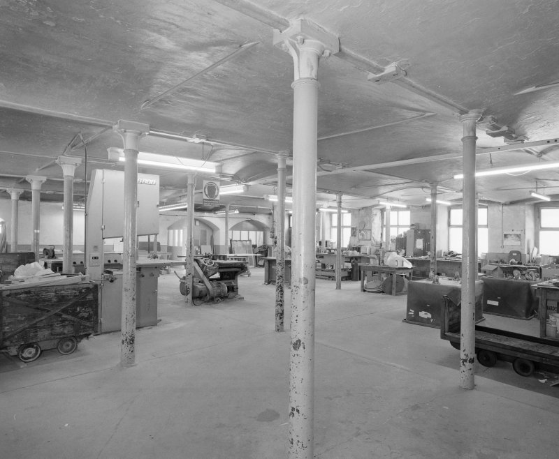 Interior. View of joiners shop from N