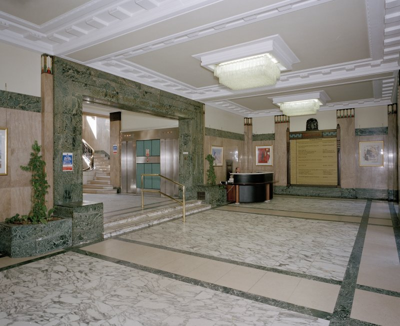 Interior.View of entrance hall from North East