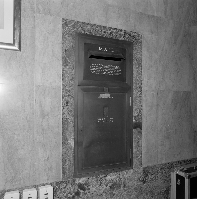 Interior. Detail of mail box