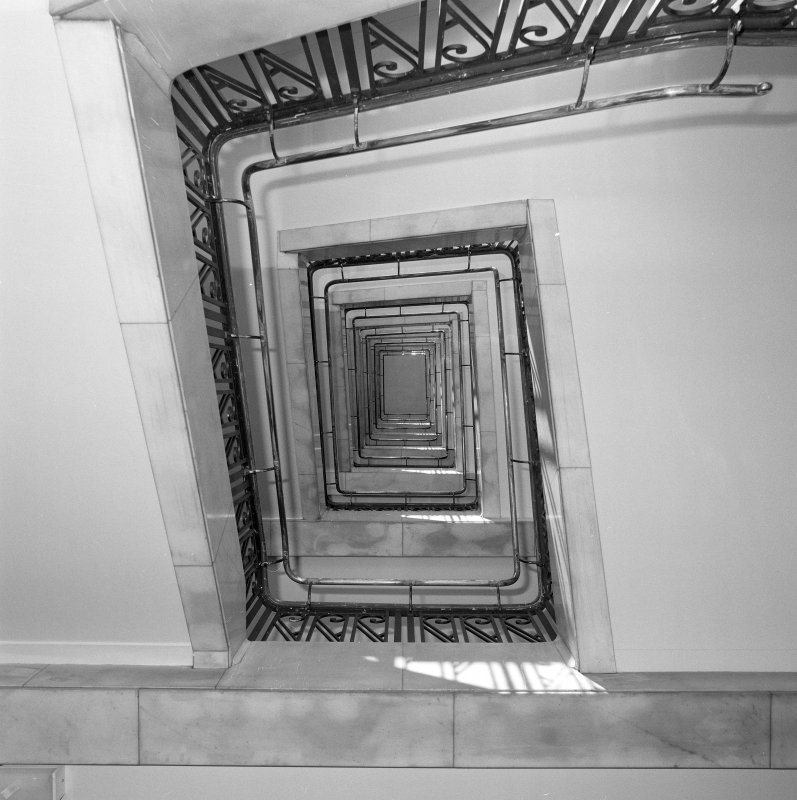 View up well of main stair