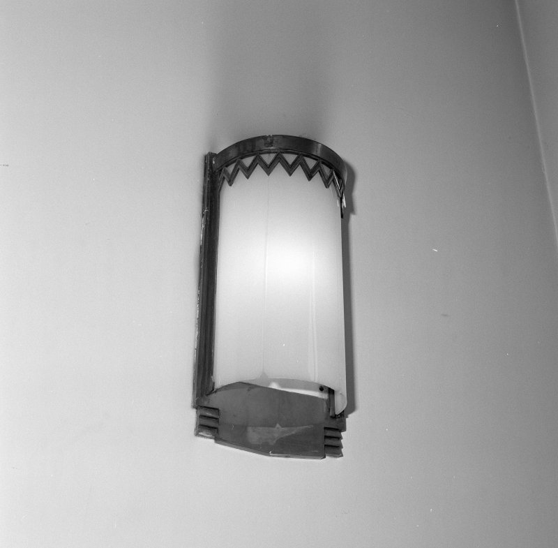 Interior. Detail of main stair light fitting