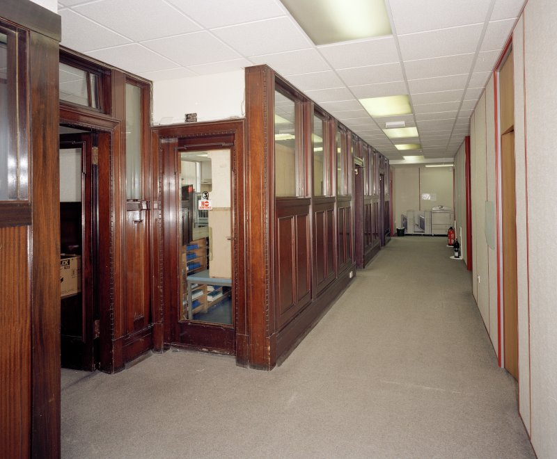 Interior. 6th floor View of corridor from East