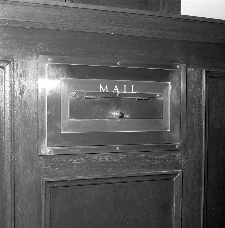 Interior. 6th floor Detail of internal mail box
