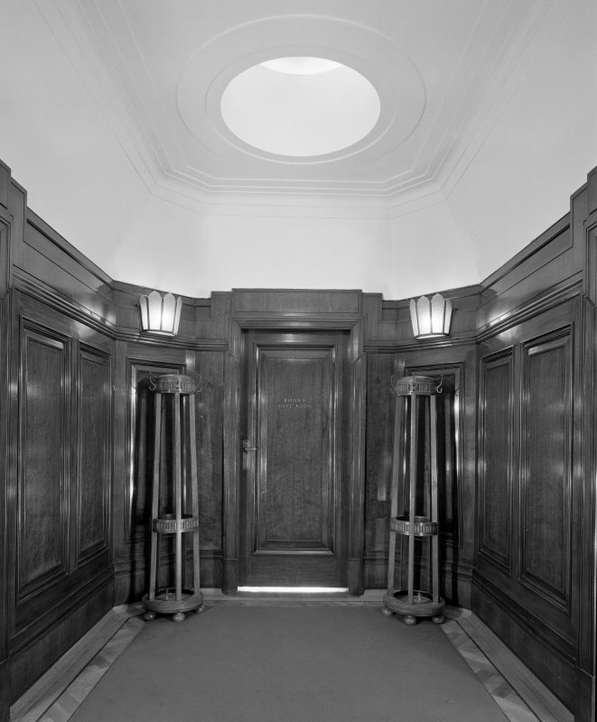 Interior. 7th floor Detail of board room entrance lobby