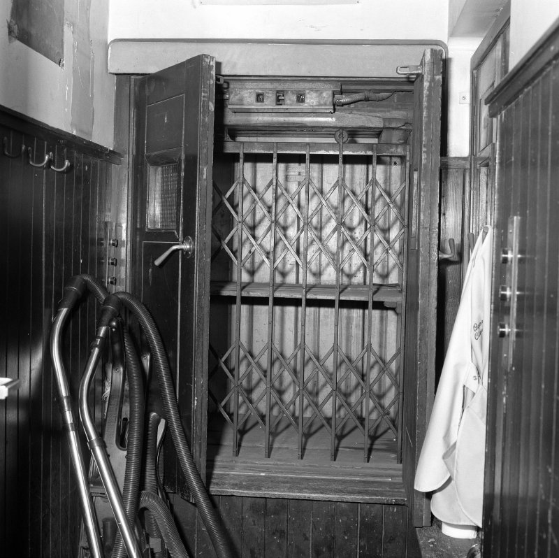 Interior. 7th floor Detail of service lift