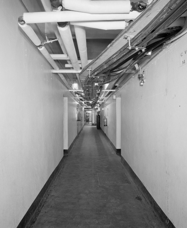 Interior. View of basement corridor