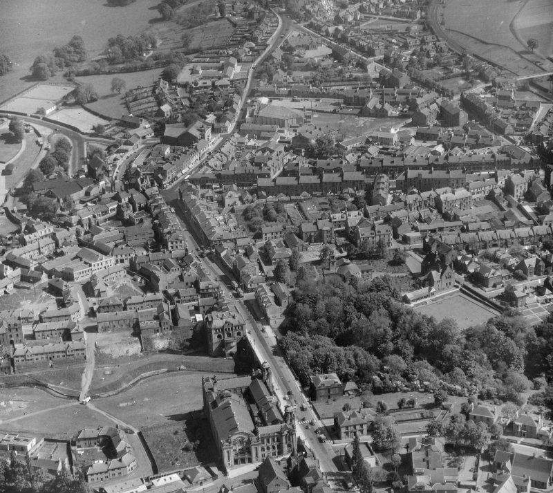 General View Hamilton, Lanarkshire, Scotland. Oblique aerial photograph taken facing South/East.