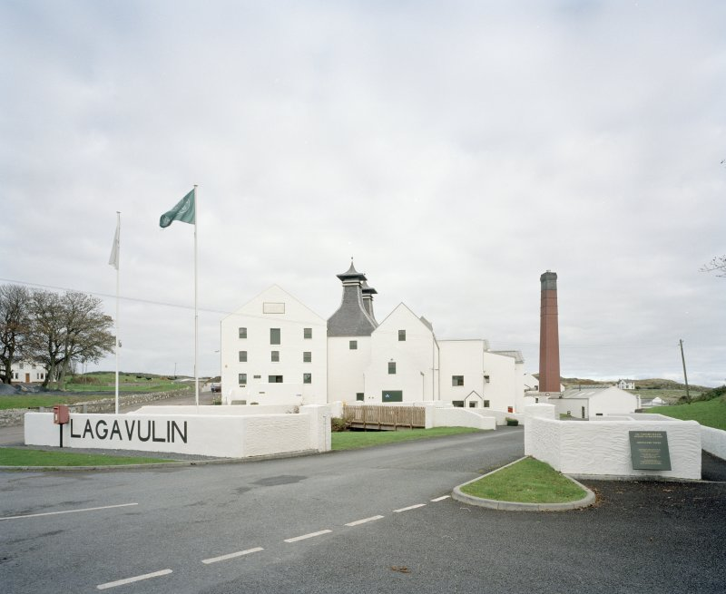 Lagavulin Distillery General view of distillery from WSW