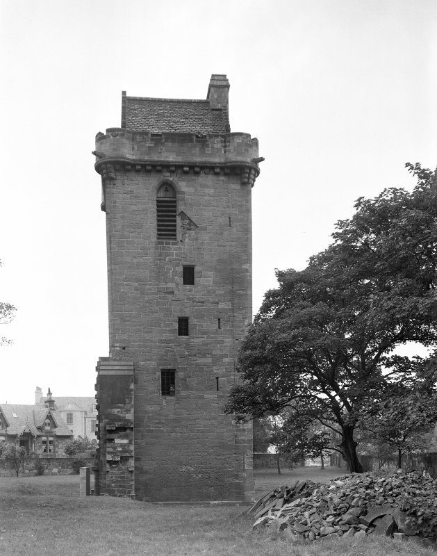 St John's Church Ayr. View of tower from N.