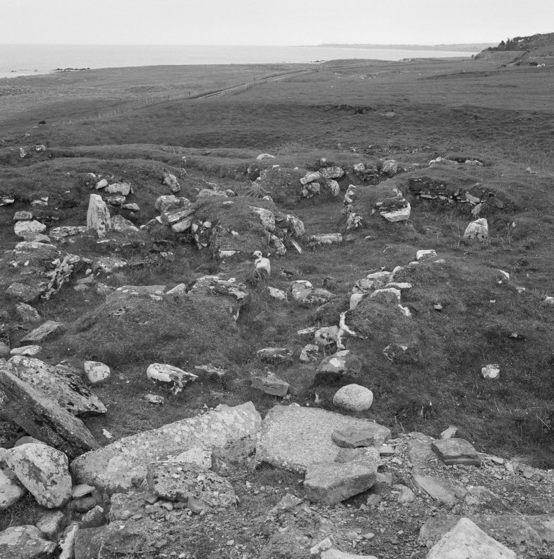 View of Kintradwell broch.