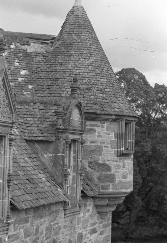 Castle Menzies. Detail of dormers on South East front.