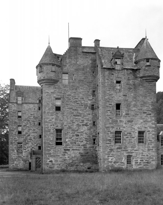 Castle Menzies. View of old portion from North East.