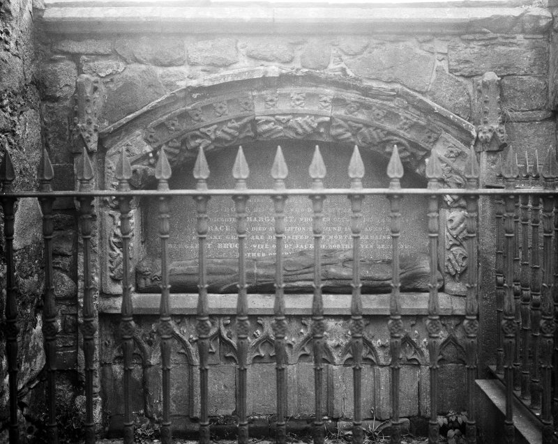 Aberdeen, Chanonry, St Machar's Cathedral. General view of tomb in South transept immediately East of Bishop Dunbar's tomb.