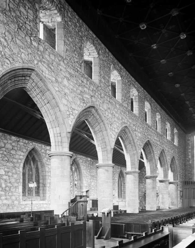 Aberdeen, Chanonry, St Machar's Cathedral, Interior. General view of South nave aisle from North-East.